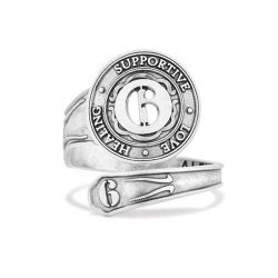 Alex and Ani Number 6 Spoon Ring - Sterling Silver