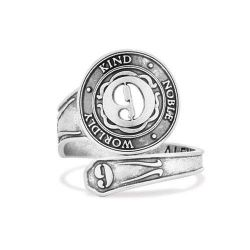Alex and Ani Number 9 Spoon Ring - Sterling Silver