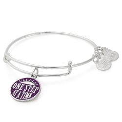 Alex and Ani One Step at a Time Charm Bangle in Shiny Silver Finish - The Herren Project