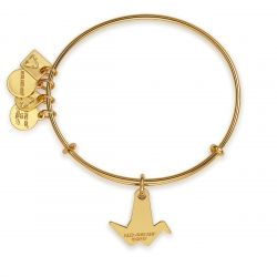 Alex and Ani Paper Crane Charm Bangle - Shiny Gold Finish