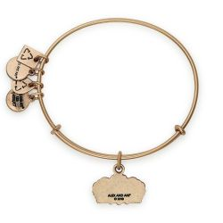Alex and Ani Queen's Crown Charm Bangle - Rafaelian Gold Finish