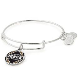 Alex and Ani Star Wars May The Force Be With You Charm Bangle Bracelet - Shiny Silver Finish