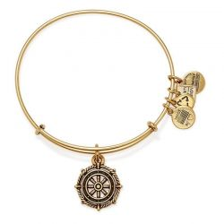 Alex and Ani Take the Wheel Charm Bangle - Rafaelian Gold Finish