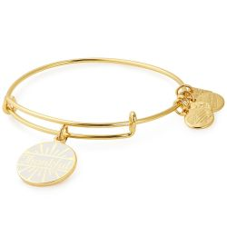 Alex and Ani Today Is A Gift Charm Bangle Bracelet - Shiny Gold Finish