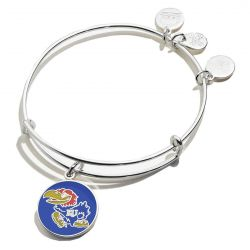 Alex and Ani University of Kansas Logo Color Infusion Charm Bangle Bracelet - Shiny Silver Finish