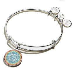 Alex and Ani Wizard of Oz There's No Place Like Home Rainbow Charm Bangle Bracelet - Shiny Silver Finish
