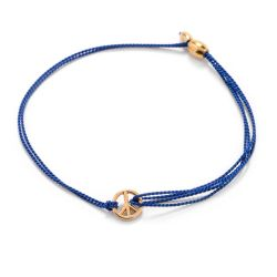 Alex and Ani World Peace Blue Kindred Cord Bracelet - Gold Plated