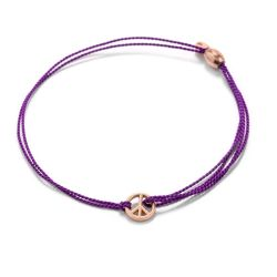Alex and Ani World Peace Purple Kindred Cord Bracelet - Rose Gold Plated