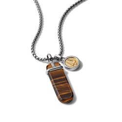 Bulova Classic Tiger's Eye Pendant Necklace