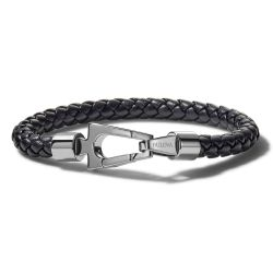 Bulova Marine Star Black Leather Bracelet