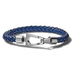 Bulova Marine Star Blue Leather Bracelet