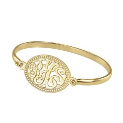 Alison and Ivy Classic Monogram Bangle 22x30mm