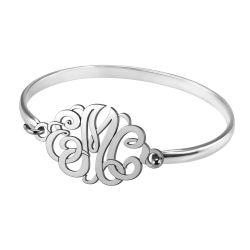 Alison and Ivy Classic Monogram Bangle 22x33mm