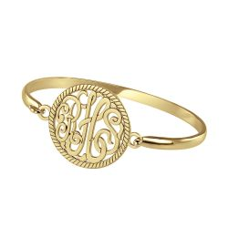 Alison and Ivy Classic Monogram Bangle 28mm
