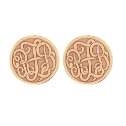Alison and Ivy Classic Monogram Recessed Stud Earrings 20mm