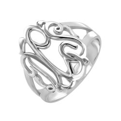 Alison and Ivy Classic Monogram Ring 18mm