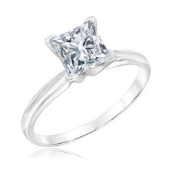 Classic Princess Diamond Solitaire Engagement Ring 1 1/2ct