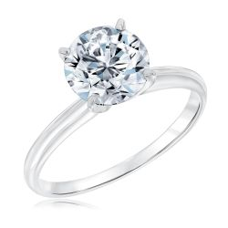 Classic Round Diamond Solitaire Engagement Ring 2ct