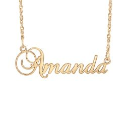 Alison and Ivy Cursive Name Necklace 11.5x36mm