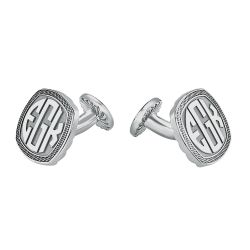 Alison and Ivy Cushion Original Monogram Cufflinks 18mm 87990