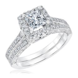 Diamond Engagement and Wedding Ring Bridal Set 1 5/8ctw