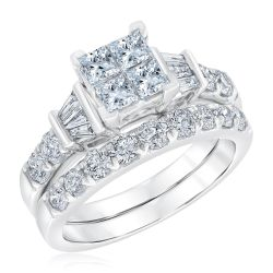 Ellaura Harmony Diamond Engagement and Wedding Ring 2ctw
