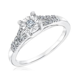 Diamond Promise Ring 1/10ctw