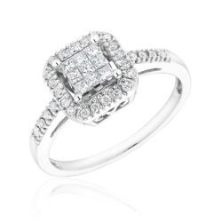 White Gold Diamond Ring 1/3ctw