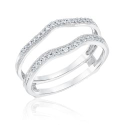 Ellaura Embrace Diamond Ring Guard 1/5ctw