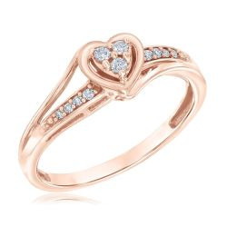 Diamond True Promise Ring 1/10ctw