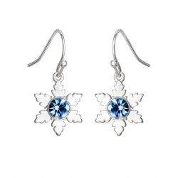 Disney's Frozen 2 Blue Crystal Snowflake Drop Earrings