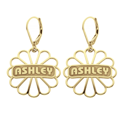 Alison and Ivy Domed Flower Earrings 24mm