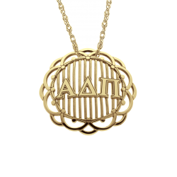 Alison and Ivy Domed Greek Letters Pendant