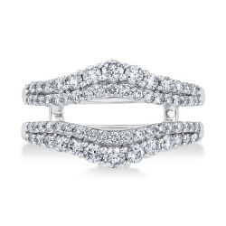 Ellaura Embrace Double Diamond Ring Guard 1ctw