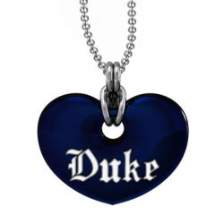 Duke Blue Enamel Heart Pendant
