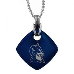 Duke Blue Enamel Square Pendant