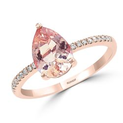 Effy Rose Gold Morganite and Diamond Accent Ring