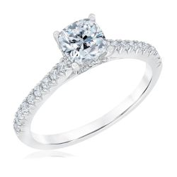Ellaura Couture Cushion Diamond Engagement Ring 1ctw
