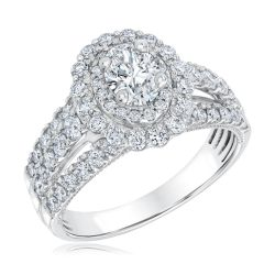 Ellaura Couture Oval Diamond Engagement Ring 1 5/8ctw