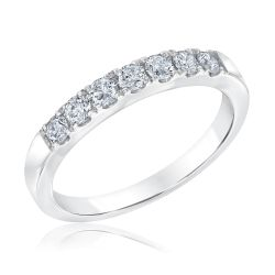 Ellaura Embrace 70th Anniversary 7 Diamond Anniversary Ring 1/2ctw