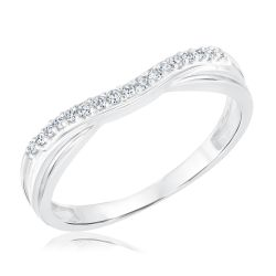Ellaura Embrace Curved Diamond Band 1/10ctw