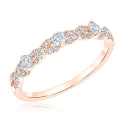 Ellaura Embrace Round Diamond Open Twist Band 1/3ctw