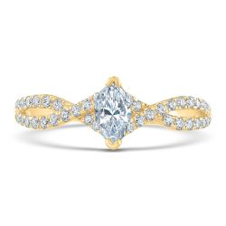 Ellaura Glow Marquise Diamond Twist Band Engagement Ring 3/4ctw