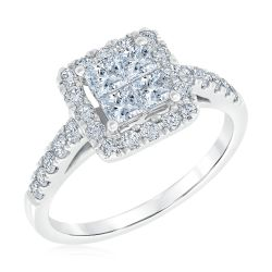 Ellaura Harmony Diamond Engagement Ring 1ctw