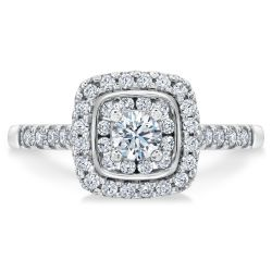 Ellaura Harmony Multi-Diamond Cushion Engagement Ring 5/8ctw