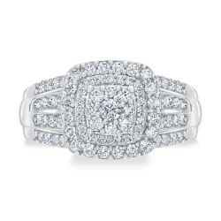 Ellaura Harmony REEDS Exclusive Multi-Diamond Engagement Ring 1ctw