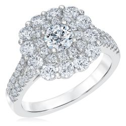 Ellaura Timeless Double Halo Diamond Engagement Ring 2ctw