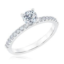 Ellaura Timeless Round Diamond Engagement Ring 3/4ctw