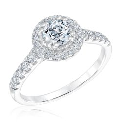 Ellaura Timeless Round Diamond Halo Engagement Ring 1 1/4ctw
