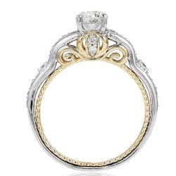 Enchanted Disney Fine Jewelry Cinderella's Carriage Two-Tone Diamond Engagement Ring 1ctw
